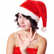 Girl in red hat — Stock Photo