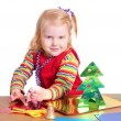 Stock Photo: Child with fir