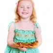 Girl with pizza — Stock Photo #1304084