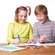 Royalty-Free Stock Photo: Children with drawing