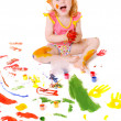 Child in paint — Stock Photo #1308379