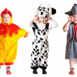 Children in fancy dress - Foto Stock