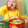 Royalty-Free Stock Photo: Little girl with salad