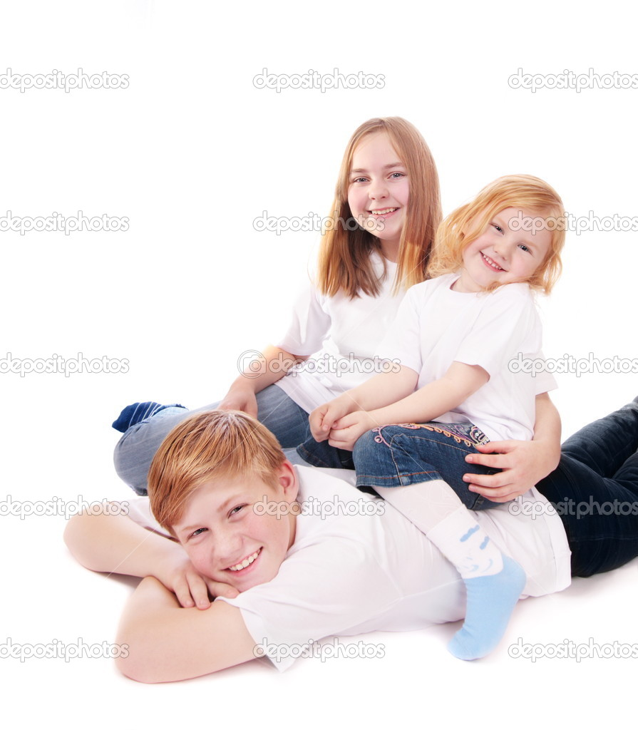 Children isolated on white  Stock Photo #1302995