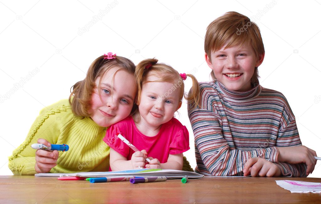 Children with drawing  — Stock Photo #1305250
