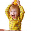 Child with fruits - Stock Photo
