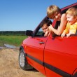 Men and children in car — Stock Photo #1328355