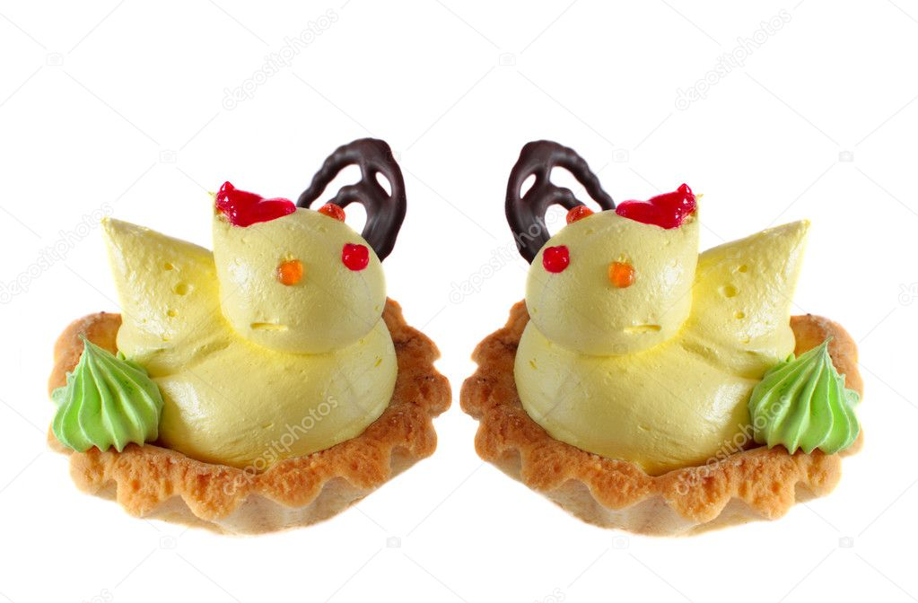 Pastry with chicken isolated on white — Stock Photo #1327439