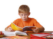 Boy with copy-book — Stock Photo