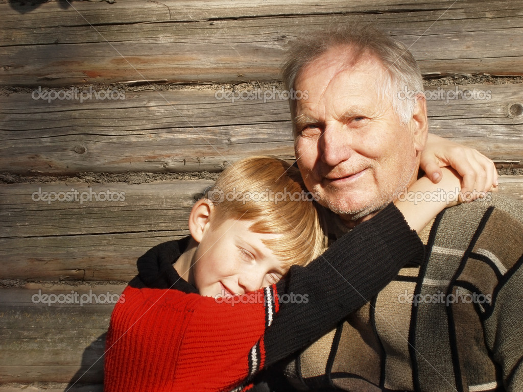 Old men and boy  — Stock Photo #1396133
