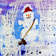 Christmas snowman — Stock Photo #1325646