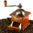 Coffee grinders to coffee beans — Foto Stock