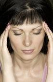Girl with migraine — Stock Photo