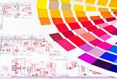 Color scheme — Stock Photo