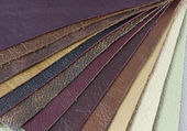 Samples of natural leather — Stock Photo