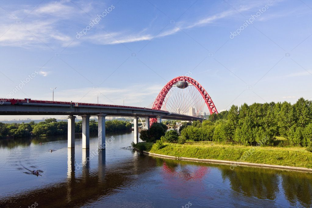 Picturesque cabling Moskva River in the north-west of Moscow — Stock Photo #1321186