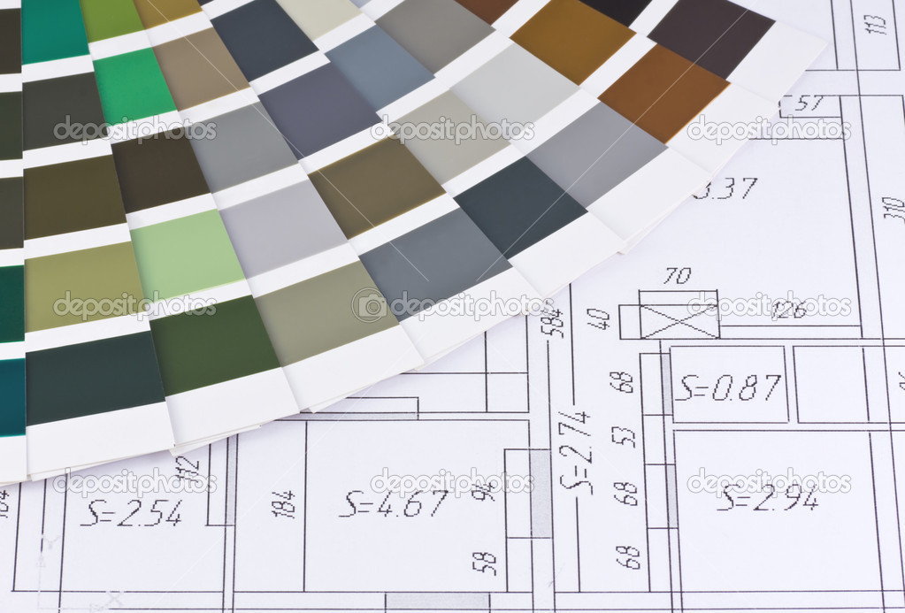 Color palette is based on the layout of the premises — Stock Photo #1325651
