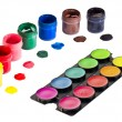 Gouache and watercolor paints — Stock Photo #1335725