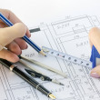 Premises plan — Stock Photo