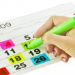 Calendar days - Stock Photo