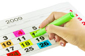 Calendar days — Stock Photo