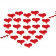 Arrow pierced red heart — Stock Photo