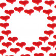 Background of red hearts - Stock Photo