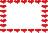 Frame of red hearts — Stock Photo
