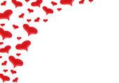 はがきの赤いハート — ストック写真