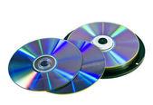 Many DVD discs — Stock Photo