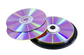 Many DVD discs — Stock Photo