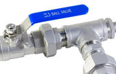 Ball valve and pipe — Stock Photo
