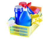 Cleaners in the basket — Stock Photo