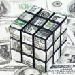 Dollar cube — Stock Photo