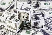 Kubussen van dollar — Stok fotoğraf