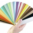Sample blinds in the hand - Stock Photo