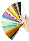 Sample blinds in hand — Stock Photo