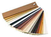 Samples of the wooden cover — Stock Photo