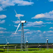 Wind power station - wind turbine — Stock Photo