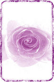 Purple rose in a retro style on a light — Stock Photo