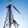 Wind power station - wind turbine - Stock Photo
