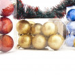 Royalty-Free Stock Photo: Set of shining Christmas-tree decoration