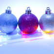 Set of shining Christmas-tree decoration — Stock Photo