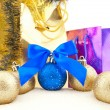 Set of shining Christmas-tree decoration — Stockfoto