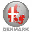 Country symbols of Denmark — ストック写真