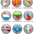 Symbolics of the European countries — Stock Photo
