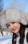 Portret van de mooie jonge vrouw — Stockfoto