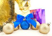 Set of shining Christmas-tree decoration — Stock Photo