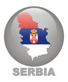 Country symbols of Serbia — Stock Photo