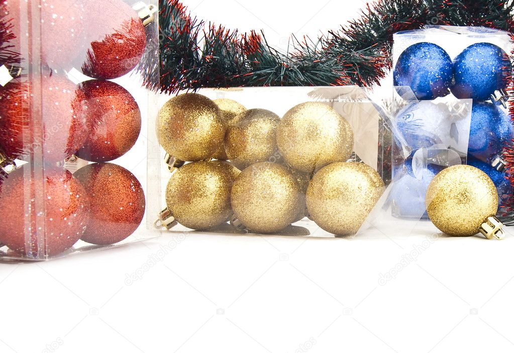 Set of shining Christmas-tree decorations - Christmas balls — Stock Photo #1317555